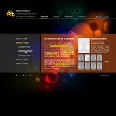 Website template for company — Stockvektor
