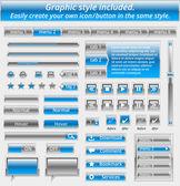 Set of metal web elements - easily customizable — Vecteur
