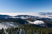 冬天山脊的低云观 — 图库照片