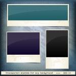 Set of grunge frames for text on vintage background — Stock Vector