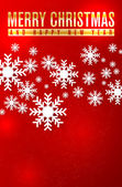 Christmas card with snowflakes and place for your text — Vector de stock