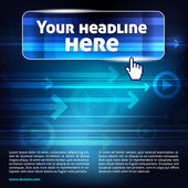 Abstract computer background with place for headline and text — Stock Vector