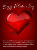 Valentine's day background with abstract hearts — Vettoriale Stock