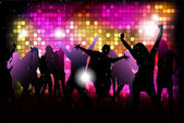 Dancing young people — Stock Vector