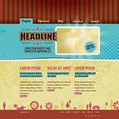 Website template in modern retro design — Stock Vector