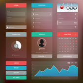 Flat design graphic user interface concept — Stockvector