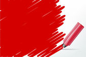 Red background with marker and scribble - place for your text — Vecteur