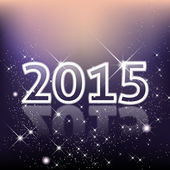 Elegant New Year 2015 background with stars and shines — Stock Vector