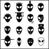 Alien icons set eps10 — Stock Vector