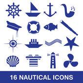 Nautical icon collection eps10 — Stock Vector