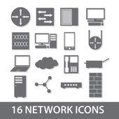 Red icono colección eps10 — Vector de stock