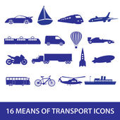 Means of transport icon set eps10 — Stock Vector