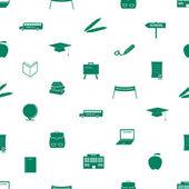 School icon pattern eps10 — Stock Vector