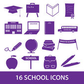 School icon set eps10 — Stock Vector