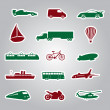 Stock Vector: Means of transport icon stickers eps10