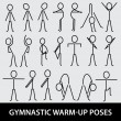 Stock Vector: Gymnastic warm-up poses eps10