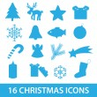Christmas icon collection eps10 — Stock Vector