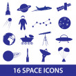 Space icon set eps10 — Stock Vector