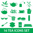 Tea icons set eps10 — Stock Vector #38857483