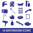 Stock Vector: Bathroom icons set eps10