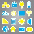 Stock Vector: Laptop and pc indication stickers eps10