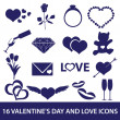 Valentine's day and love icons eps10 — Stock Vector