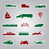 Means of transport icon stickers eps10 — Stock Vector