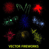 Vector color fireworks eps10 — Stock Vector