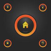 Navigation light buttons eps10 — Stock Vector