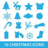 Natale icona raccolta eps10 — Vettoriale Stock