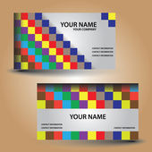 Business card color bricks eps10 — Stock Vector