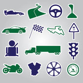 Automotive stickers collection eps10 — Stock Vector