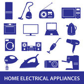 Home electrical appliances set eps10 — Stock Vector