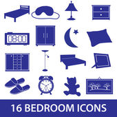 Bedroom icon set eps10 — Stock Vector