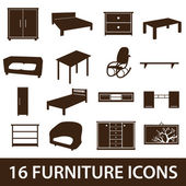 Furniture icons eps10 — Stock Vector
