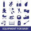 Equipment for baby icon set eps10 — Stock Vector