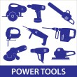 Power tools icon set eps10 — Stock Vector #40229509