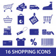 Shopping icons set eps10 — Stock Vector