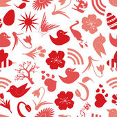 Spring icons seamless pattern eps10 — Stock Vector
