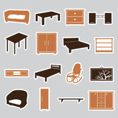 Furniture stickers eps10 — Stock Vector