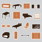 Furniture stickers eps10 — Stok Vektör