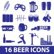 Beer icon set eps10 — Stock Vector #40230091