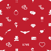 Valentine's day and love red pattern eps10 — Stock Vector