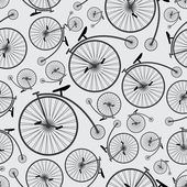 Bicycle historic pattern eps10 — Vetorial Stock