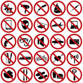 Restriction sign set eps10 — 图库矢量图片