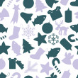 Christmas icon color pattern eps10 — Vettoriale Stock