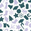 Christmas icon color pattern eps10 — Stock vektor