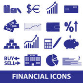 Financial and money icons eps10 — Stock Vector