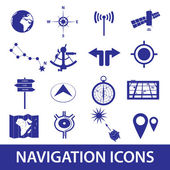 Navigation icons set eps10 — Stock Vector
