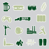 Beer stickers set eps10 — Stock Vector